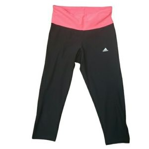 Adidas Super High Waisted Cropped Black Leggings